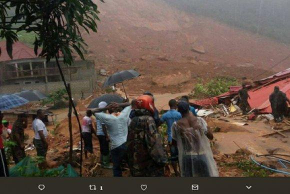 Número de mortos em deslizamento em Serra Leoa já passa de 300