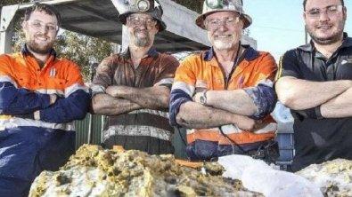 Pepita de ouro de 90 quilos é achada