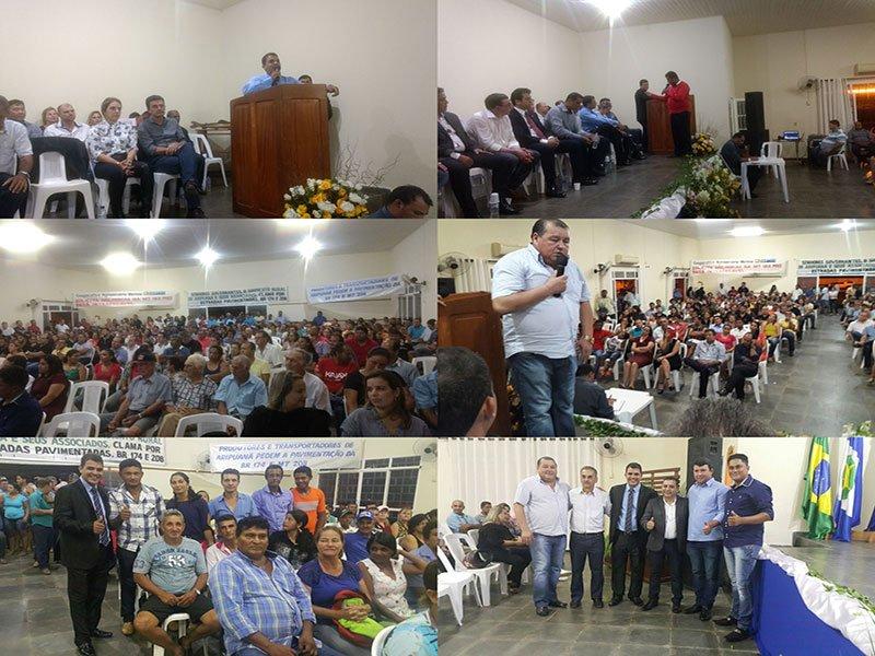 """População comparece em peso em reunião com a """"Frente Parlamentar do Noroeste"""" no município de Aripuanã-MT"""