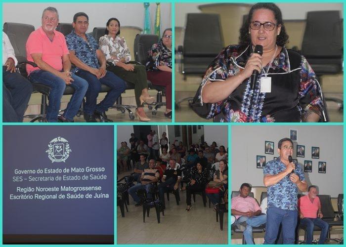 Escritório Regional da saúde de Juína realiza palestra em Colniza