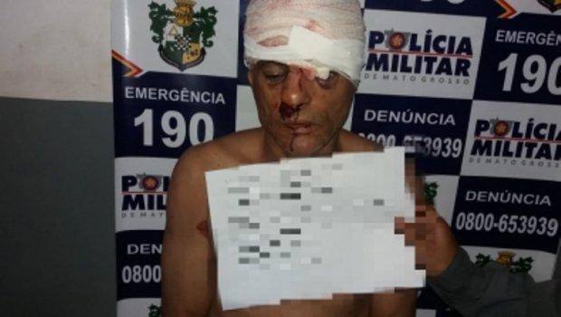 Vítima espanca e quebra arma falsa na cabeça de ladrão em MT