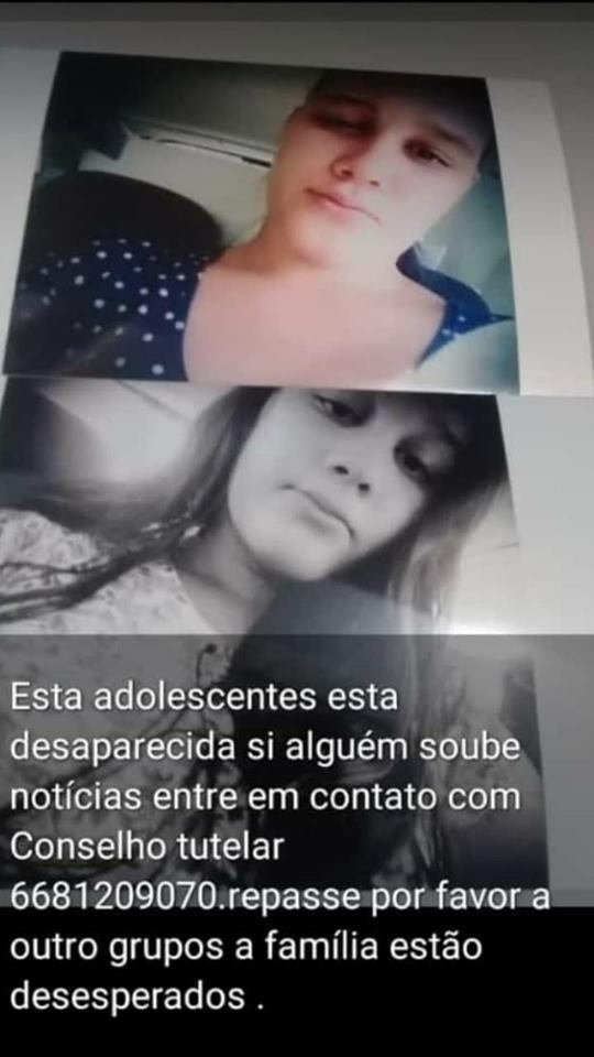 Em Colniza adolescente de 16 Anos de idade está desaparecida, e família está desesperada