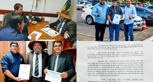 Deputado Nelson Barbudo destina emenda para compra de caminhão compactador de lixo para Colniza
