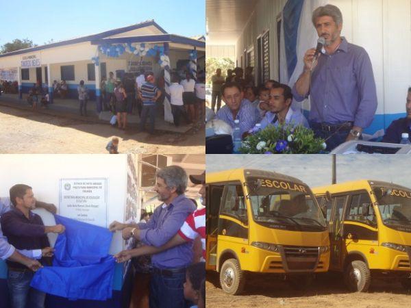 Prefeitura realiza reinauguração da Escola Tancredo Neves em Colniza-MT