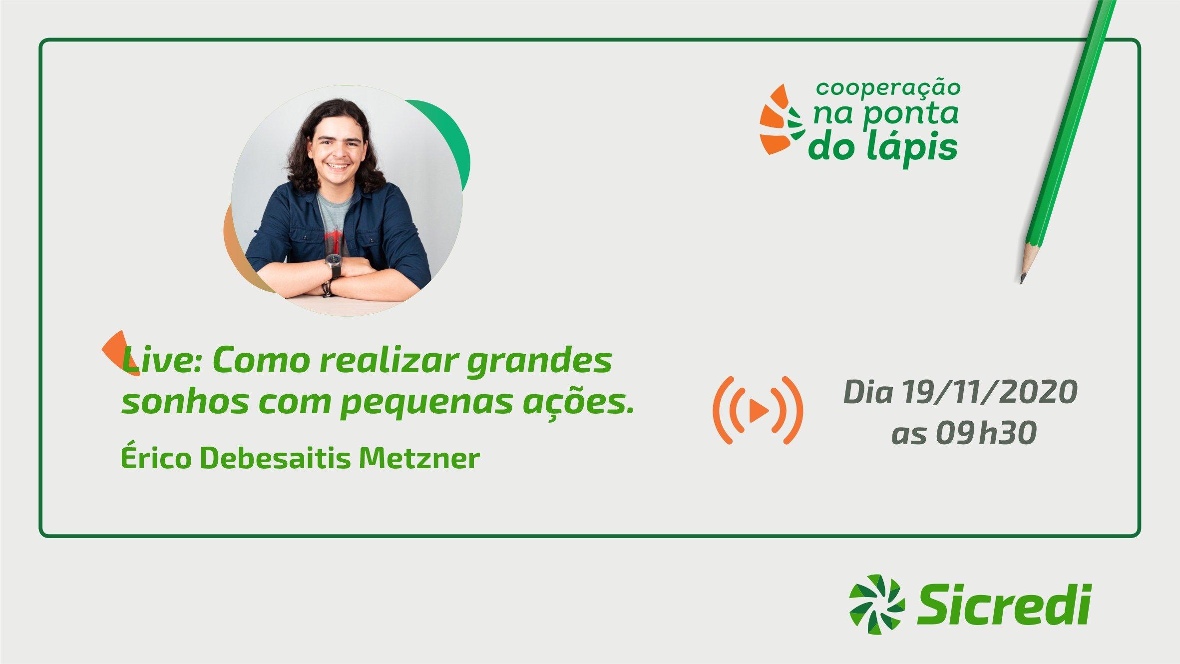 Cooperação na Ponta do Lápis: Participe da Live de educação financeira do Sicredi
