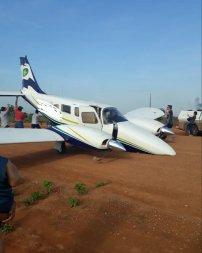 Avião do Governo tem problema no trem de pouso e sofre acidente em Colniza