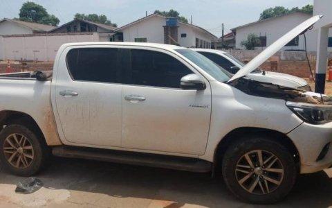 Colniza: Caminhonete e Fiat Strada são recuperadas pela Força Tática de Juína