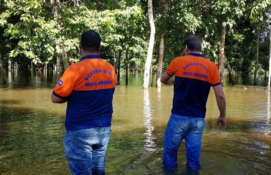 Defesa Civil do Mato Grosso vistoria locais de alagamentos em Aripuanã