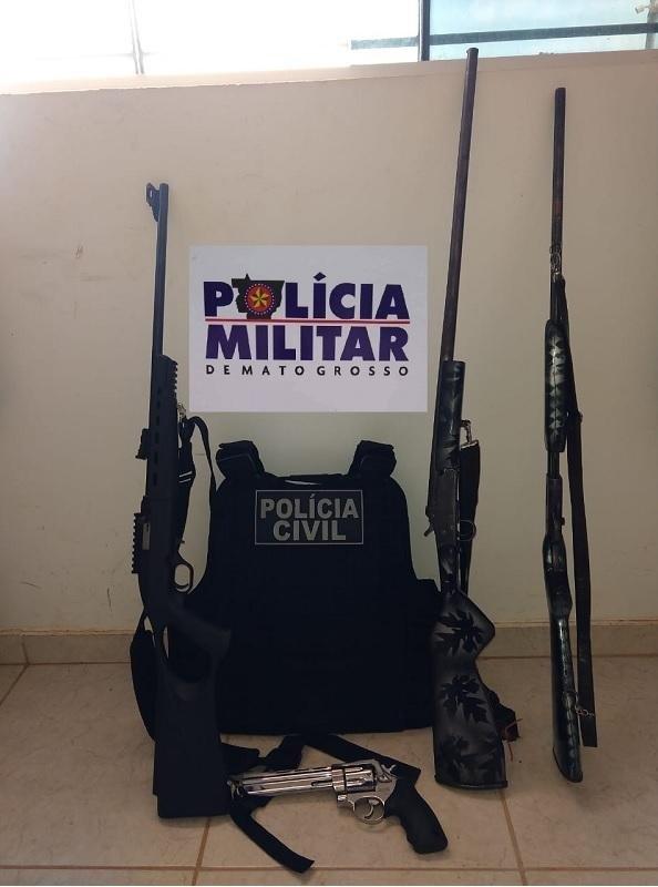 Forças de segurança prendem duas pessoas e apreendem armas em Colniza