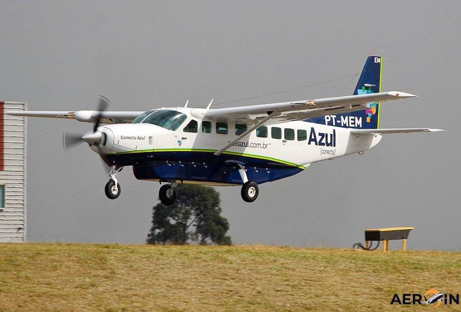 Avião Cessna C208 da Azul Conecta colide com antena durante pouso em Aripuanã