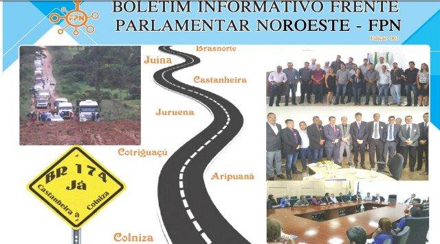 Boletim informativo Frente Parlamentar do Noroeste