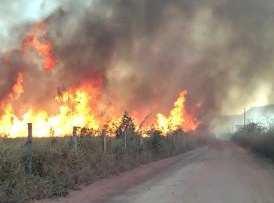 Fogo atinge terra indígena há cerca de 2 semanas em MT e cacique reclama que brigadistas não foram ao local