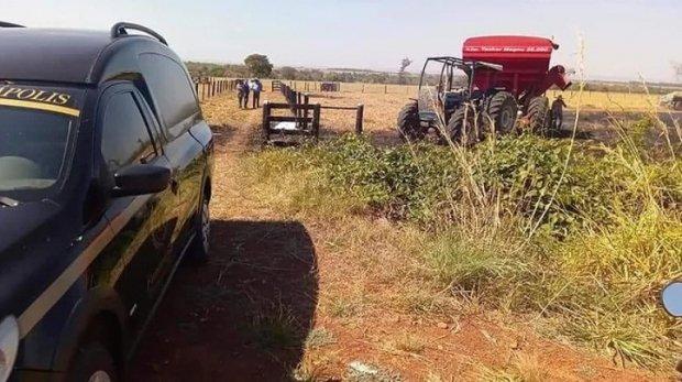 Funcionário tenta apagar fogo e morre eletrocutado em fazenda