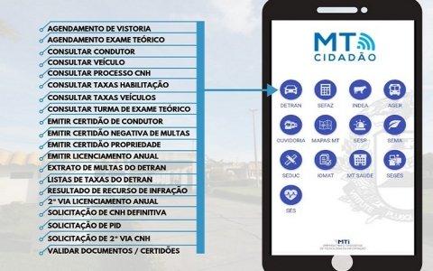 Detran disponibiliza 20 serviços em aplicativos pela internet