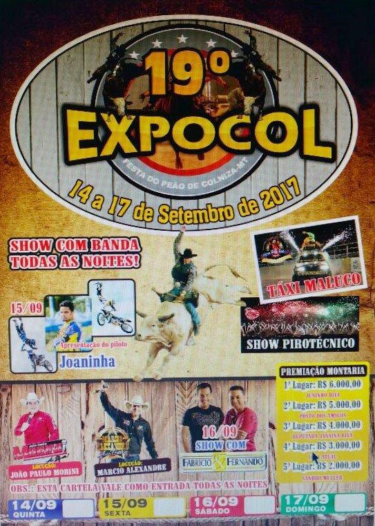 19ª edição da Expocol em Colniza começa nesta quinta-feira