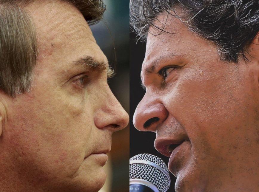 Vai ter 2º turno: Haddad e Bolsonaro vão procurar o centro