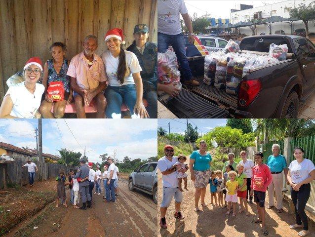 Sicoob Credip e a Polícia Militar de Colniza distribuem 190 cestas básicas no município de Colniza