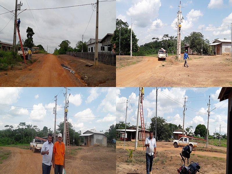 Moradores do Assentamento Projeto Sol I em Colniza são beneficiados com iluminação pública