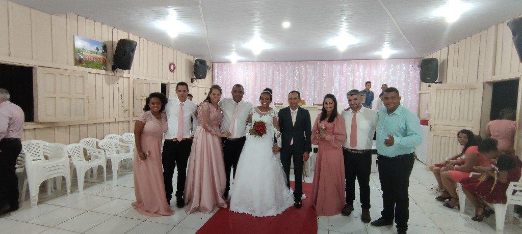 Cerimônia religiosa do casamento de Welinton Mamedes e Kálita Destro.
