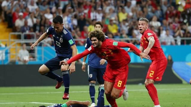 Bélgica leva susto, mas despacha Japão no último lance e será a adversária do Brasil nas quartas