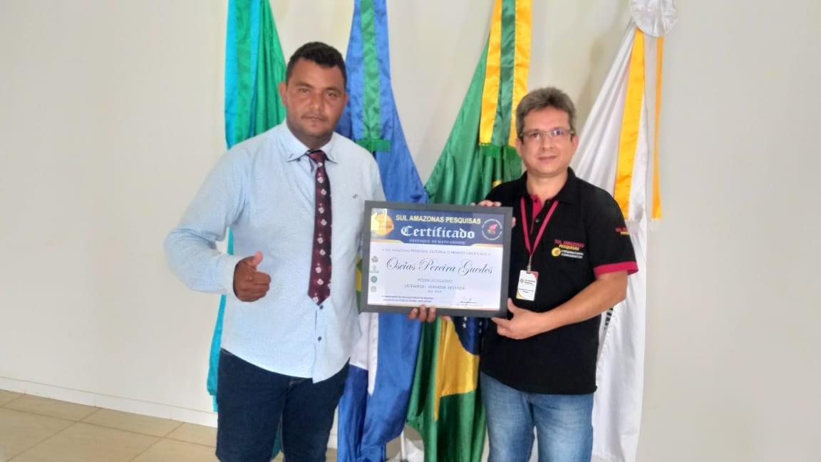 vereador Oseia é novamente eleito destaque do ano em Colniza