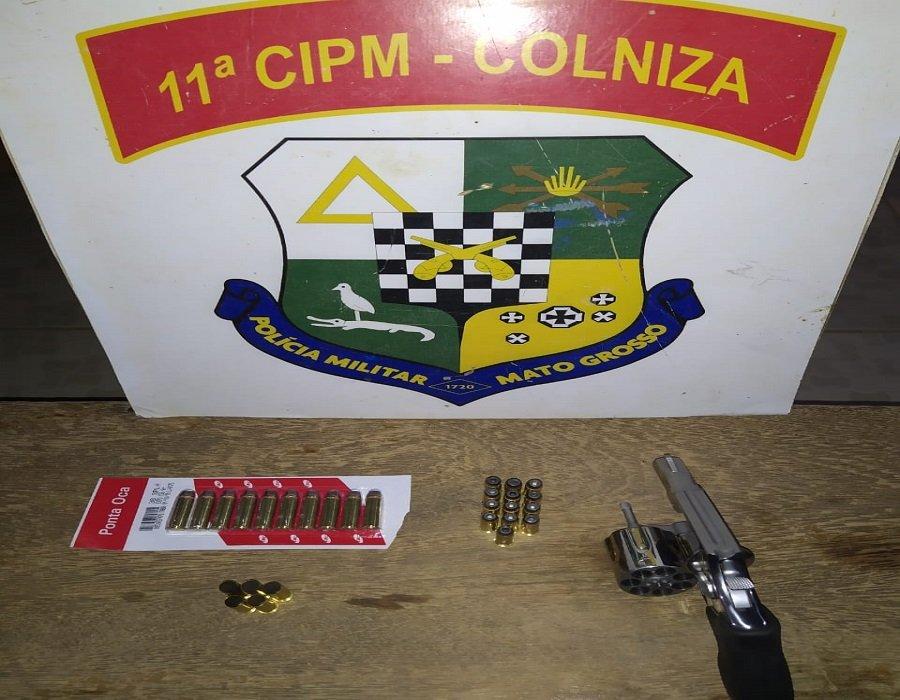 Homem é preso com arma de fogo e munições após ameaçar vítimas em Colniza