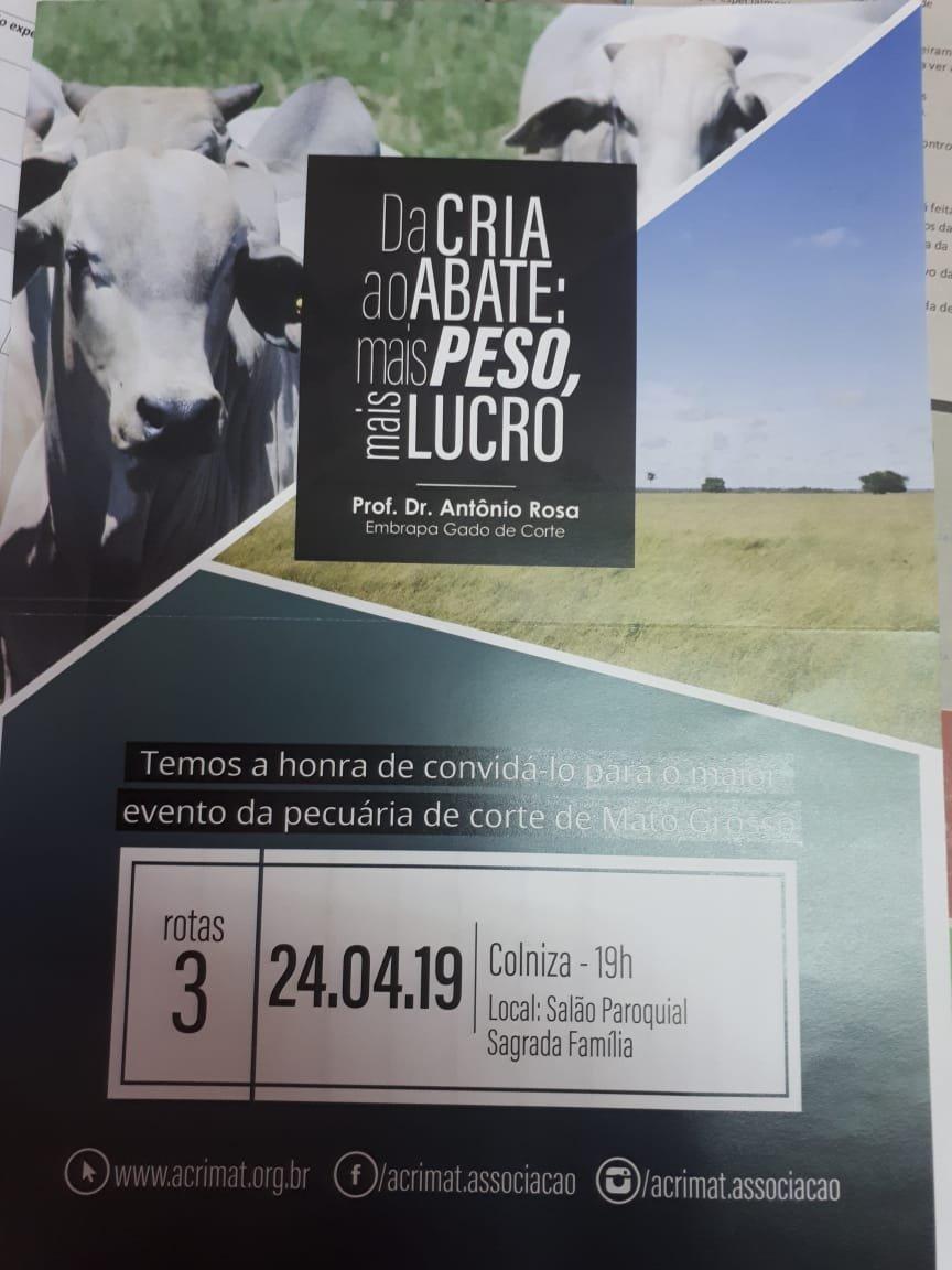 Município de Colniza recebe na próxima semana a equipe do Acrimat em Ação 2019