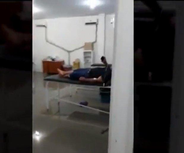 Unidade Básica de Saúde fica inundada após chuva