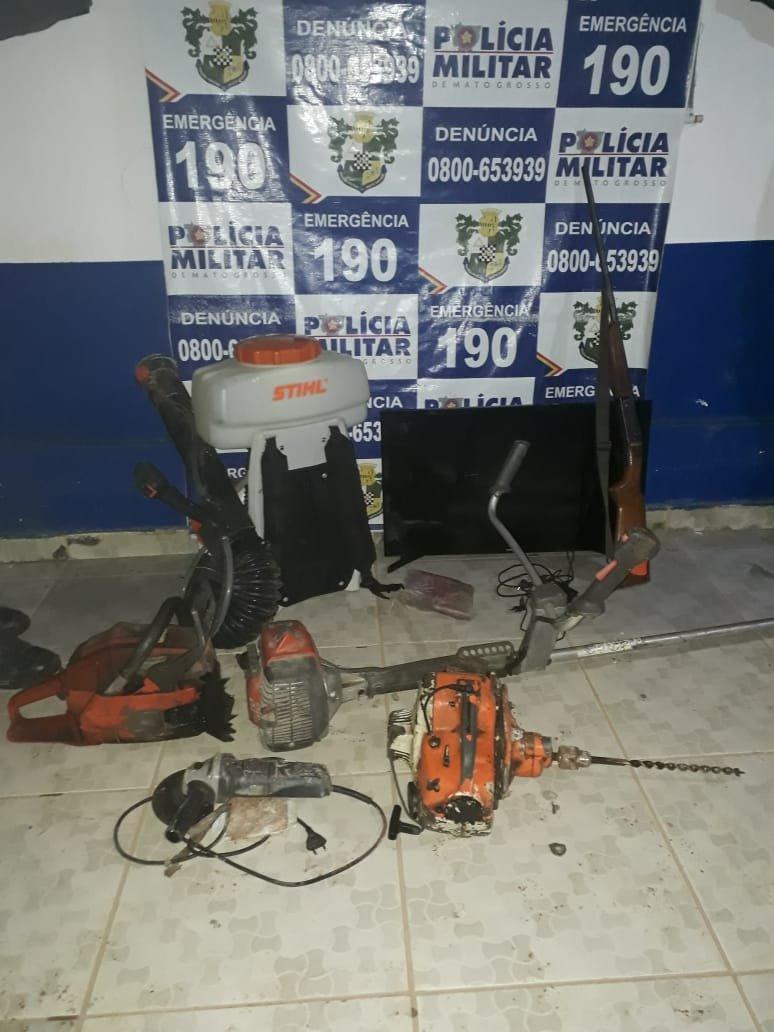 Polícia militar de Colniza prende suspeito por posse irregular de arma de fogo e receptação