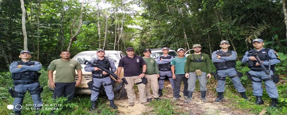 Policiais militares do CRVIII dão apoio a FUNAI e órgãos de proteção em terras indígenas no município de Colniza