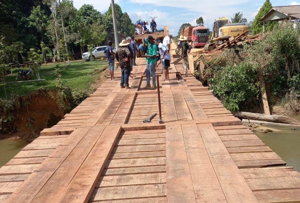Através de parceria ponte do Rio Pacutinga 2 é recuperada