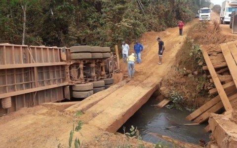 Motoristas denunciam más condições de trecho da BR-174 e precariedade de pontes