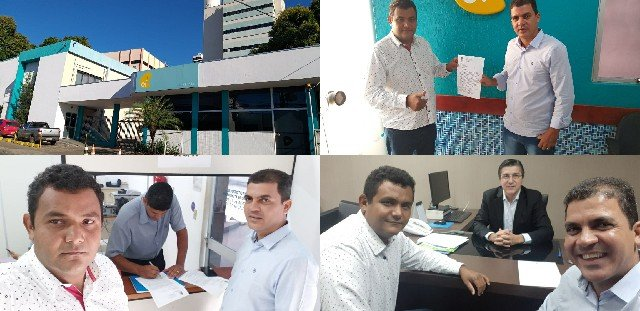 Vereadores de Colniza protocolam na capital abaixo-assinado contra operadora OI