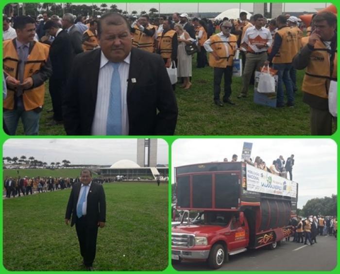 Prefeito Vando, o Presidente da AMM e outros prefeitos estão participando da mobilização municipalista nacional em Brasília