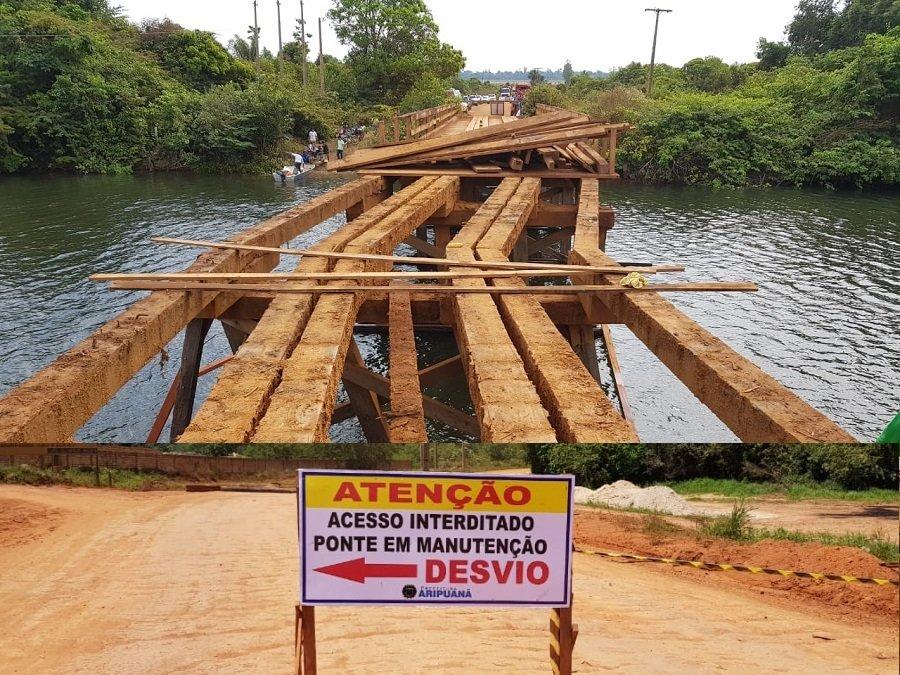 Inicia obras de reforma da ponte sobre o Rio Aripuanã na MT-208