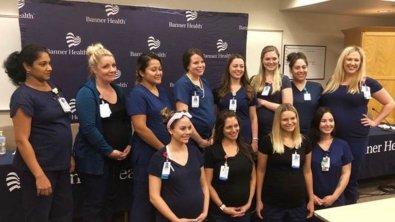 16 enfermeiras engravidam ao meso tempo