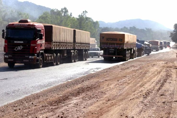 Caminhão pagará R$ 1 mil em pedágio para levar safra