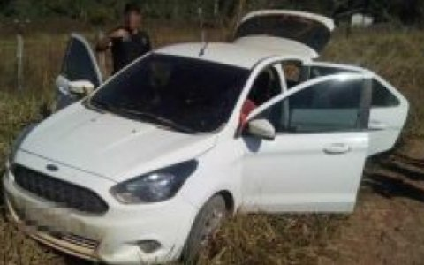 Em Juruena, ladrões rendem policiais, roubam armas e fogem