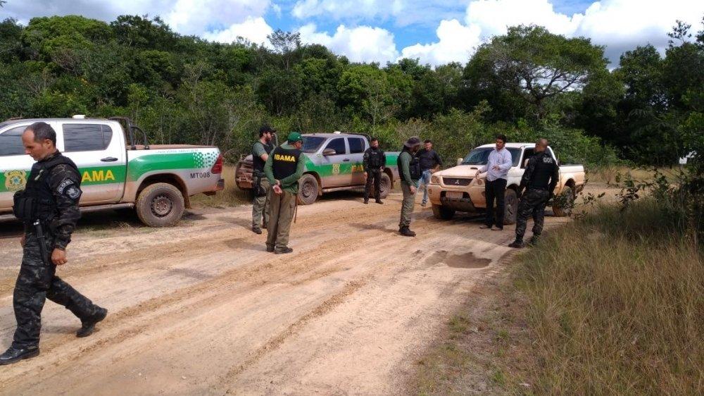 Ação do Ibama e GOE prende em flagrante 4 pessoas em área de grilagem em Cotriguaçu