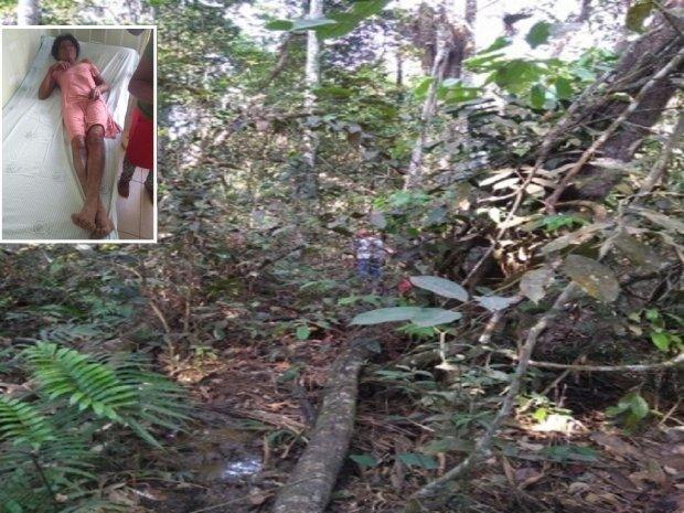 Bombeiros encontram mulher que ficou perdida em mata