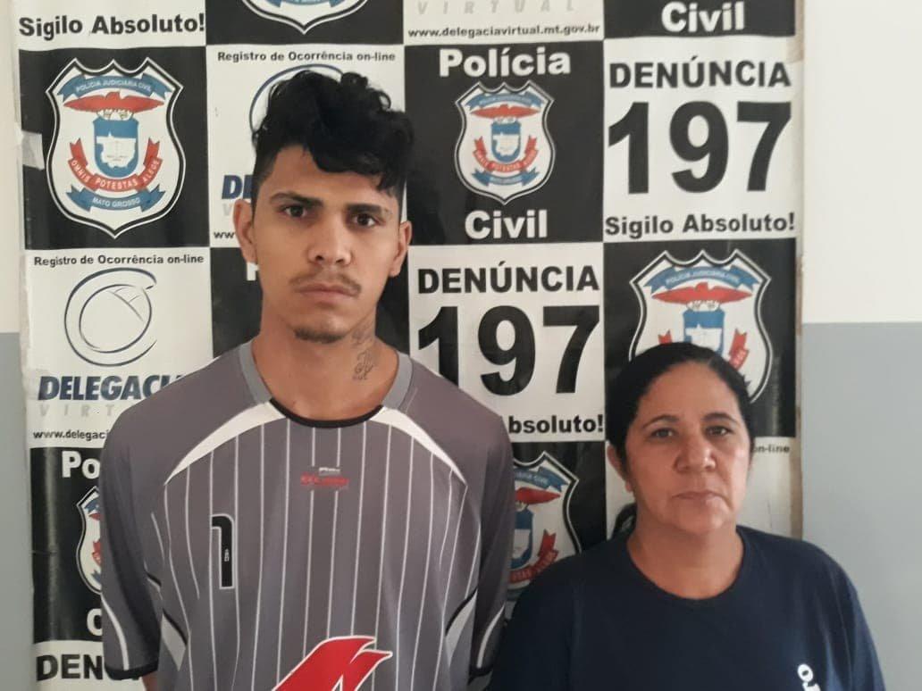 Polícia Civil prende mãe e filho membros de organização criminosa em Juína