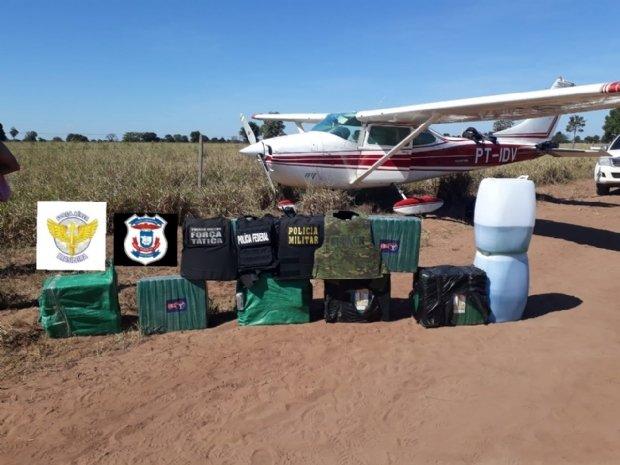 Quadrilha invade aeroporto e tenta resgatar avião apreendido pela FAB com 250 kg de cocaína