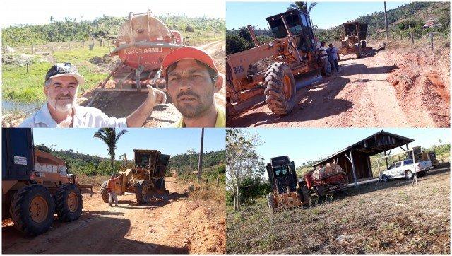 Vereador Daniel acompanha de perto os trabalhos realizados na linha Muriru em Colniza-MT