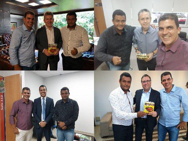Vereadores de Colniza se reúnem com governador Mauro Mendes