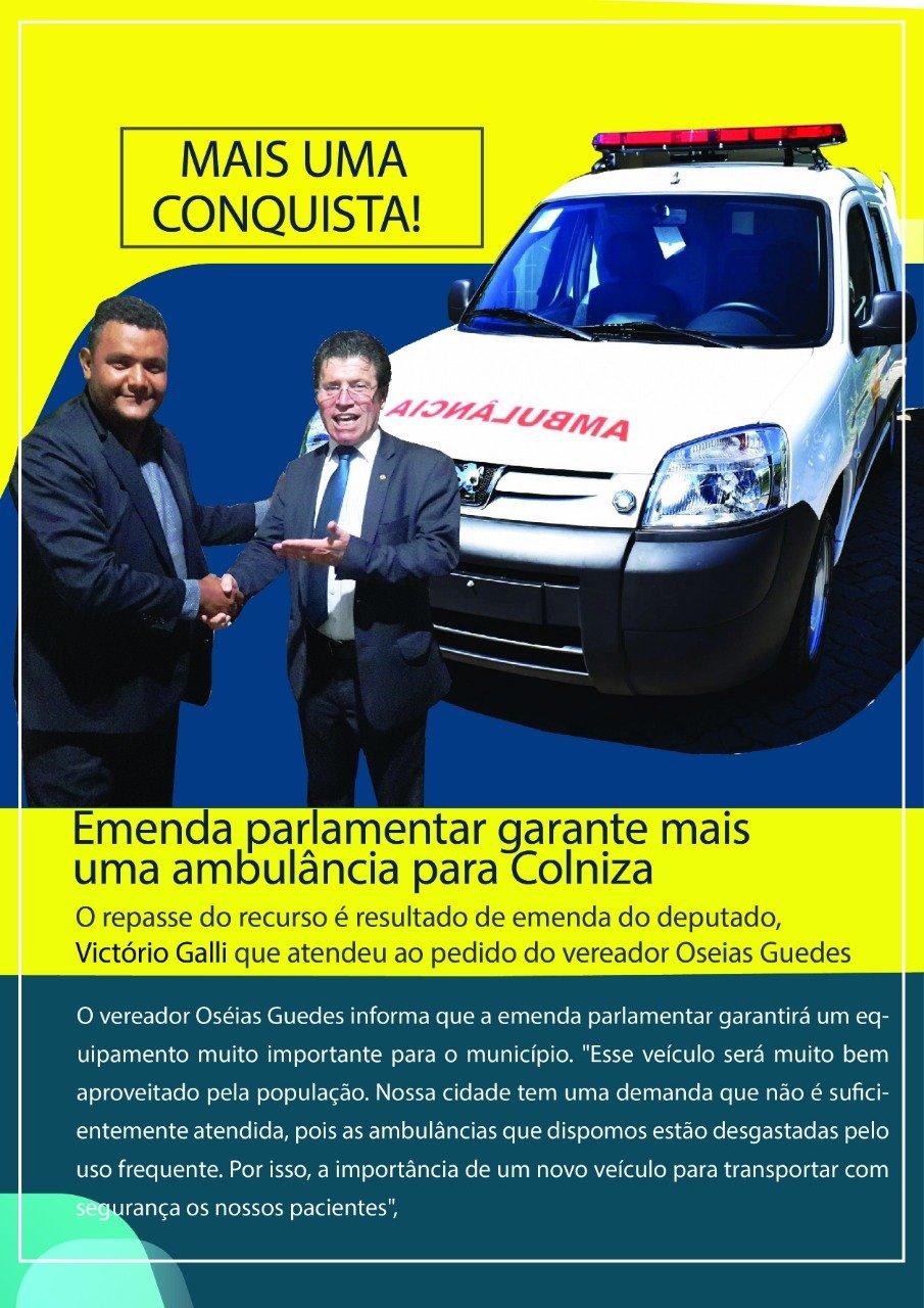 Município de Colniza é contemplado com nova ambulância