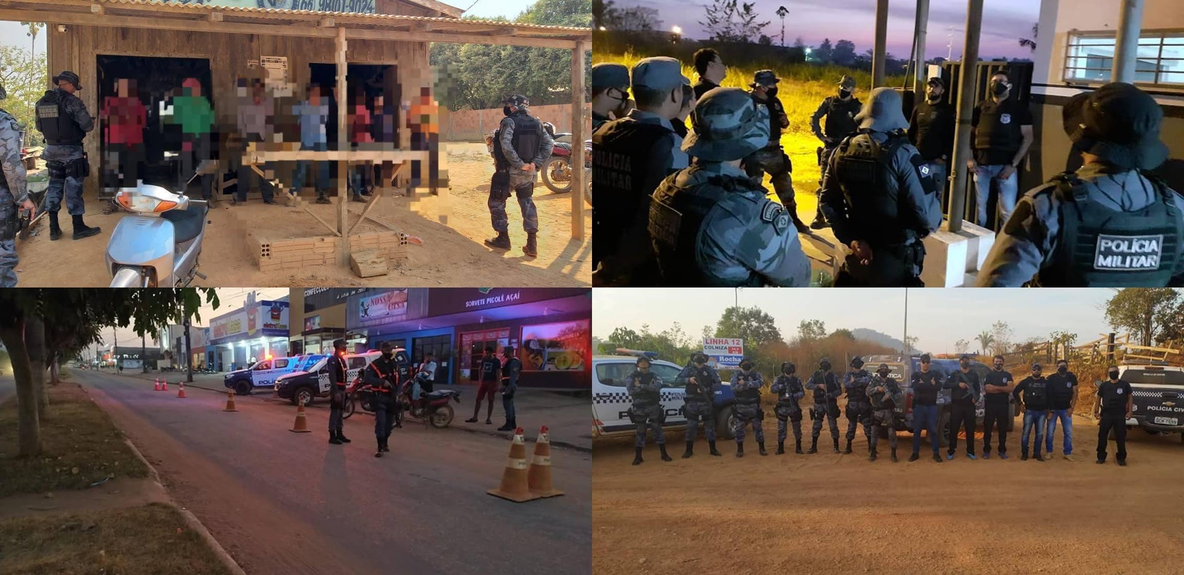 Operação integrada em Colniza resulta em apreensão de armas de fogo e prisão de criminosos
