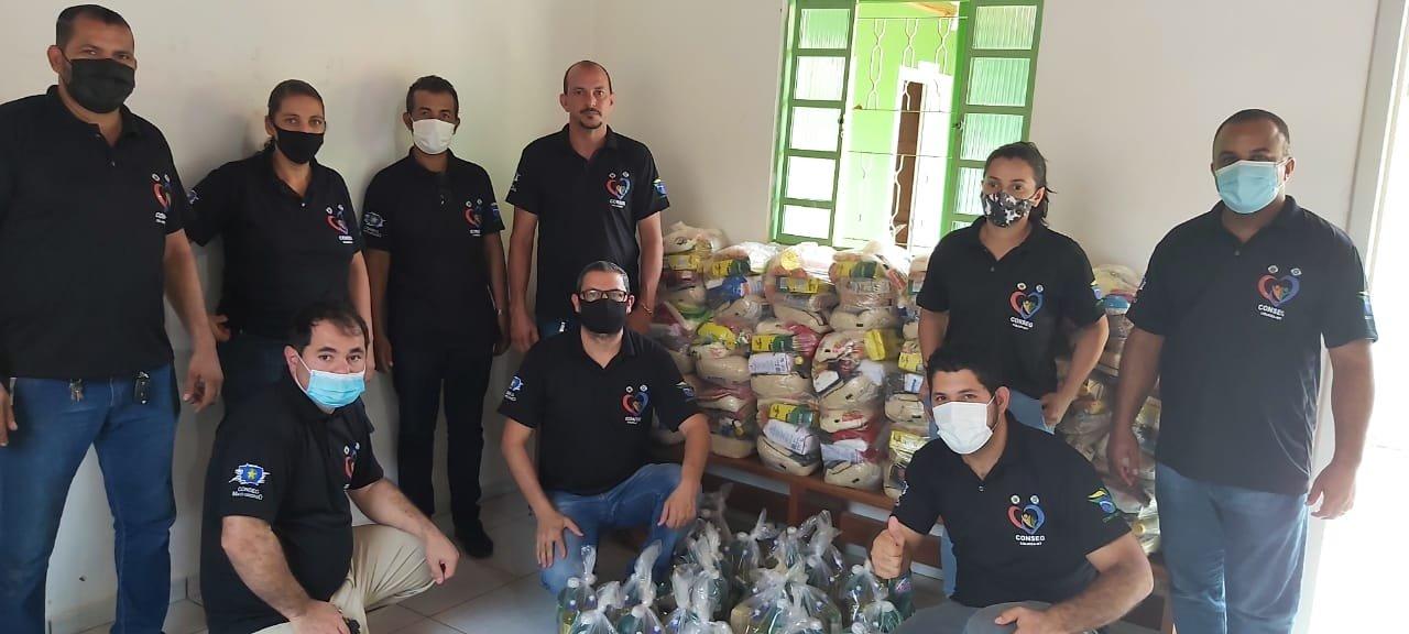CONSEG de Colniza realiza entrega cestas básicas e kits de materiais de limpeza para famílias carentes do município