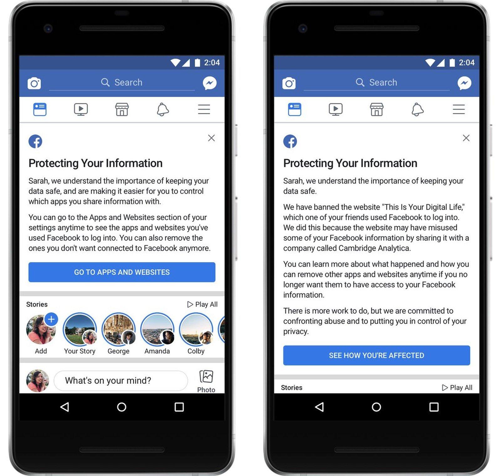 Facebook mostra quais usuários foram atingidos pelo escândalo de dados da Cambridge Analytica