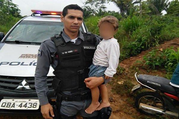 Polícia Militar ajuda a localizar criança de dois anos desaparecida por 4 horas em Colniza