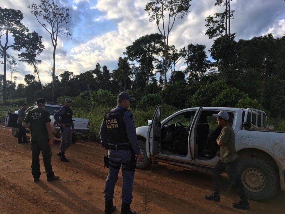 Funai e polícia militar flagram tentativa de grilagem em terra indígena Kawahiva em Colniza